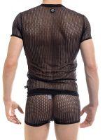 L'Homme Blaze: V-Neck-Shirt, schwarz