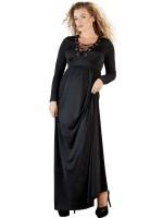 Abendkleid mit Schnürung, schwarz