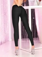 Pink Lipstick Leggings: Sleek and Shiny, schwarz