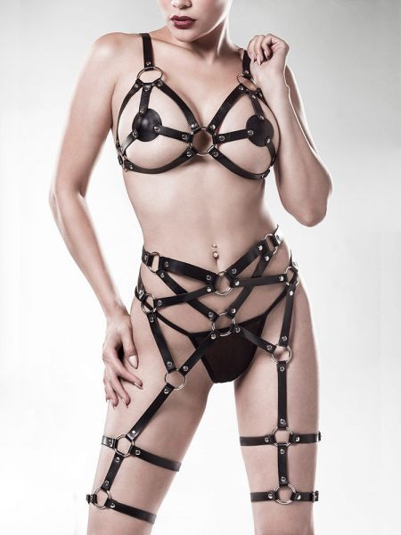 Grey Velvet 15140: Harness-Strapsset 3-teilig, schwarz