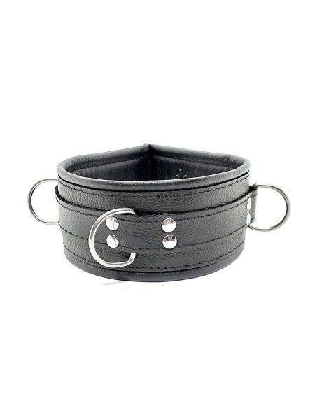 Black Label Leather Vampire Collar With Spikes: Halsband, schwarz