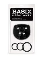 Basix Rubber Works Universal Harness: Strap-On Harness, schwarz