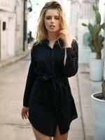 Anabel Arto: Longbluse, schwarz