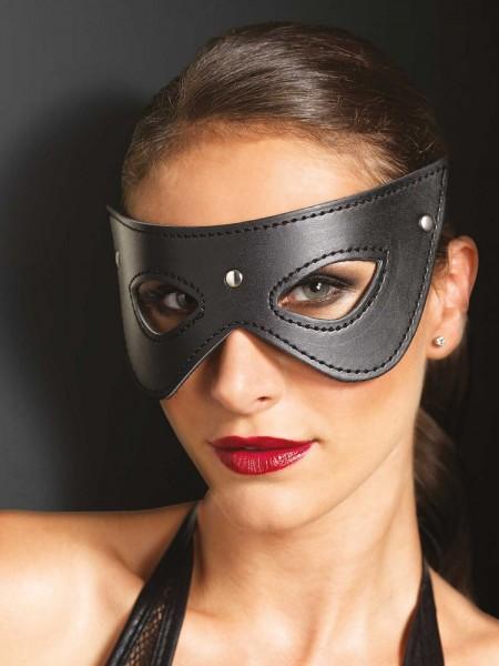 KINK: Kunstleder-Augenmaske, schwarz