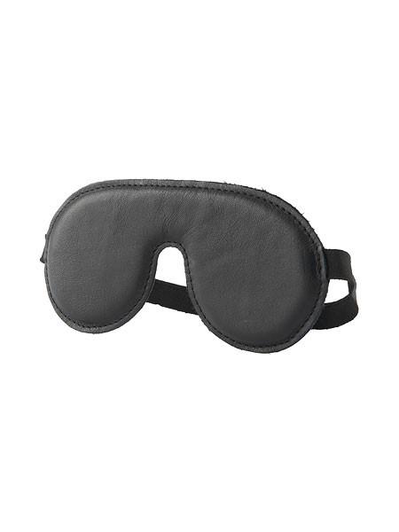 Hidden Desire Desire: Leder-Augenmaske, schwarz