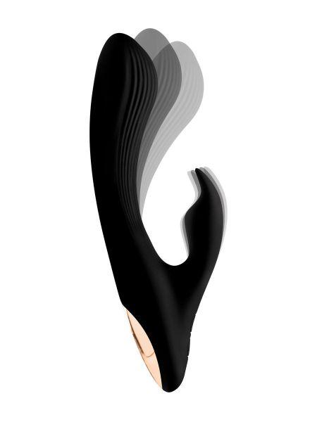Wonder Vibes 7X Bendable Silicone Rabbit: Bunnyvibrator, schwarz/roségold