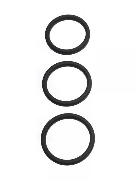 Perfect Fit Xact-Fit 3-Ring-Kit L-XL: Penisringe-Set, schwarz