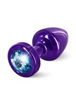 Diogol Buttplug Anni Round: Analplug (25mm), lila/blau