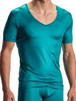 Olaf Benz RED1804: V-Neck-Shirt, petrol