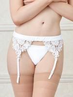 Dreamgirl Strapsgürtel, weiß