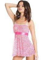 Coquette Elite Babydoll: Heart print, pink/weiß