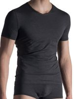 Olaf Benz RED1818: V-Neck-Shirt, anthra