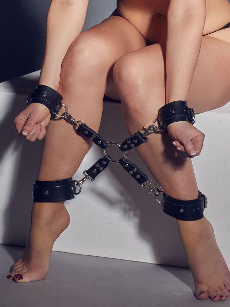 Zado Fessel-Set: Hand- und Fußfesseln, schwarz