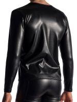 MANSTORE M953: Zipped Longsleeve, schwarz