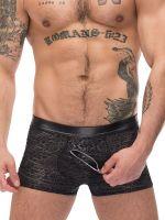 Male Power Zip It: Zip Pouch Short, schwarz