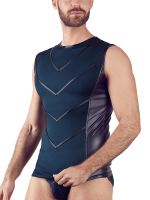 NEK Sleeveless Tight Fit Shirt, blau