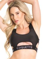 Coquette: Bralette, schwarz
