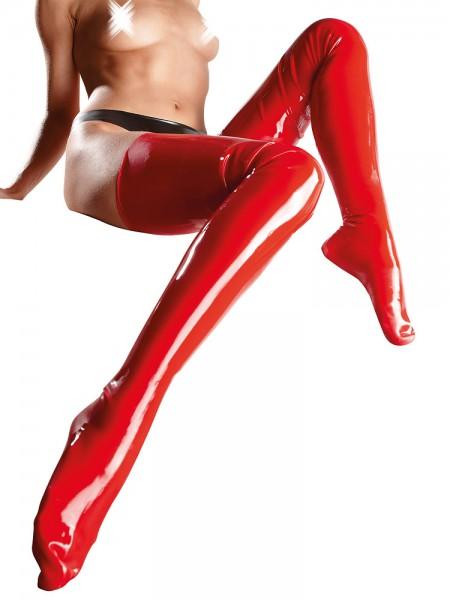 Latexstrümpfe, rot