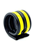 Neoprene Racer Ball Strap: Hodenring, schwarz/gelb