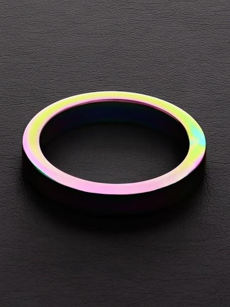 Triune Rainbow Flat C-Ring: Edelstahl-Penisring