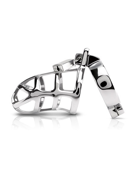 Metal Wörx Cock Cage: Keuschheitskäfig, silber
