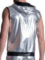 MANSTORE M2104: Zipped Hoody, silber