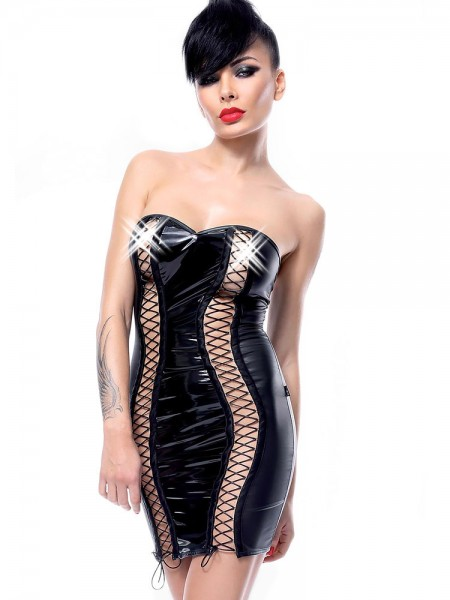 Demoniq Hard Candy Minikleid: Astrid, schwarz