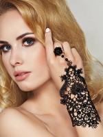 7-Heaven Spitzen-Handschuh, schwarz