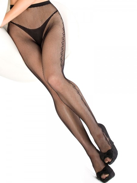 Coquette: Netzstrumpfhose, schwarz