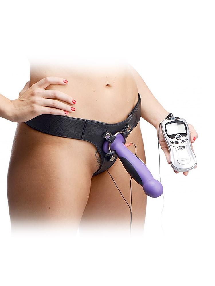 Strap U Fuse: Strap-On Elektro-Dildo, lila