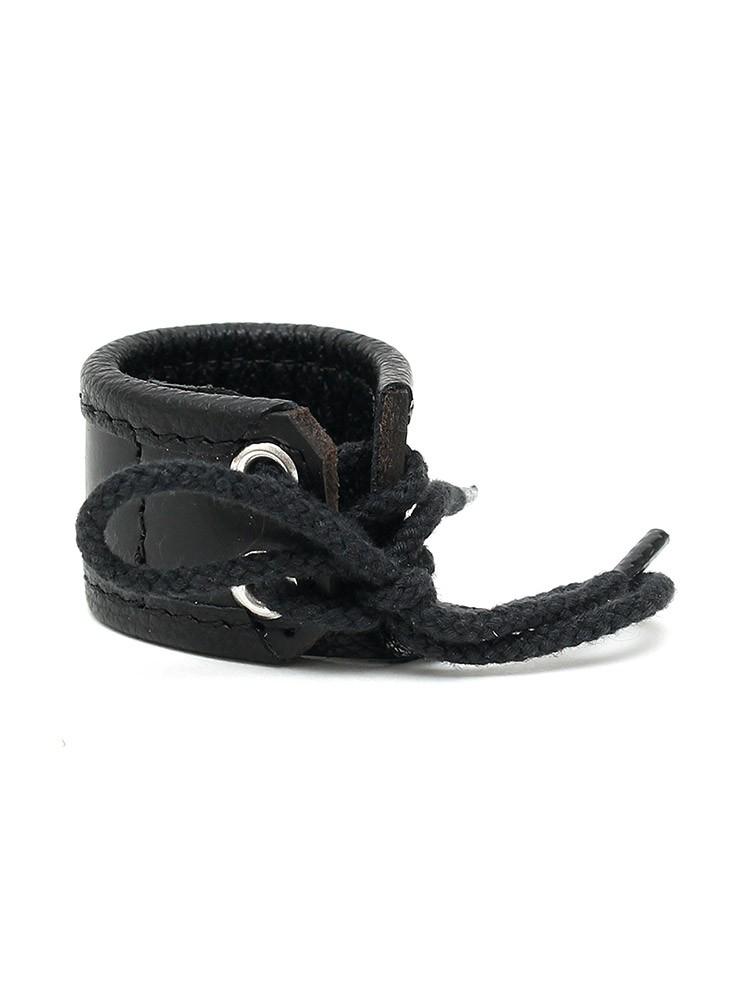 Rimba Leder-Hodenstretcher 3cm, schwarz