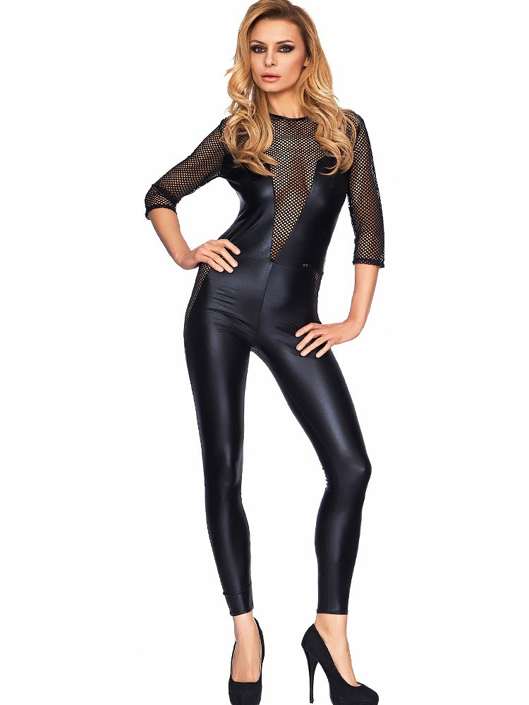 7-Heaven Wetlook-Catsuit: Perica, schwarz