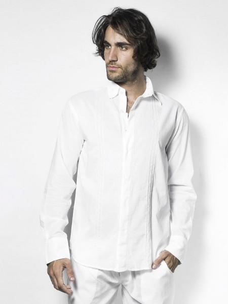 L'Homme Tudor: Loungeshirt, weiß