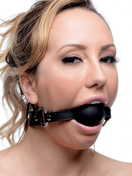 Strict XL Silicone Ball Gag: Ballknebel, schwarz