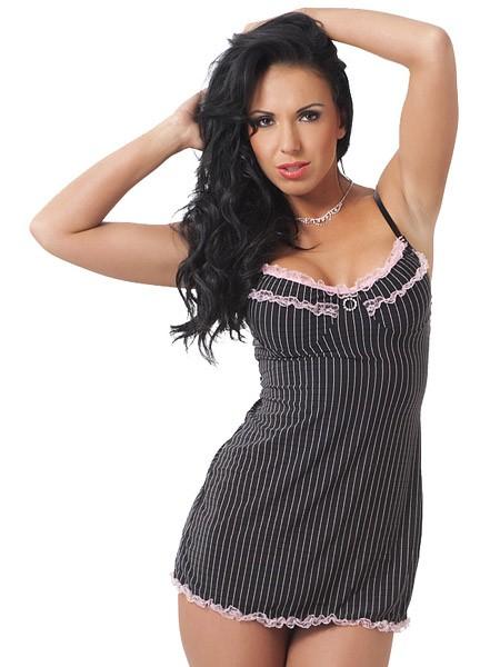 Rimba Minikleid: Donna, schwarz/rosa