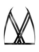 Bijoux Indiscrets Maze: Doppelter X-Harness, schwarz