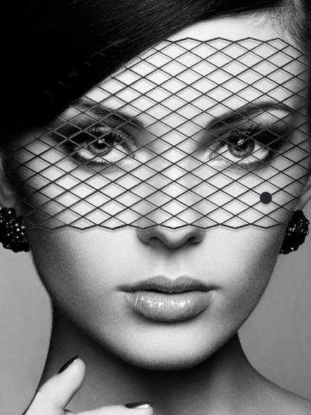Bijoux Indiscrets Louise: Vinyl-Maske, schwarz