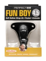 "Perfect Fit Fun Boy 4,5"": Strap-On Packer hohl, schwarz"
