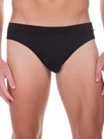 Bruno Banani Rib Made: Sportbrief, schwarz