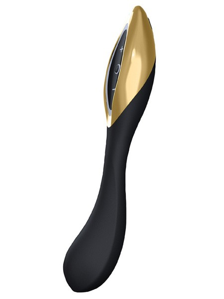 Zini Ran: Vibrator, schwarz/gold