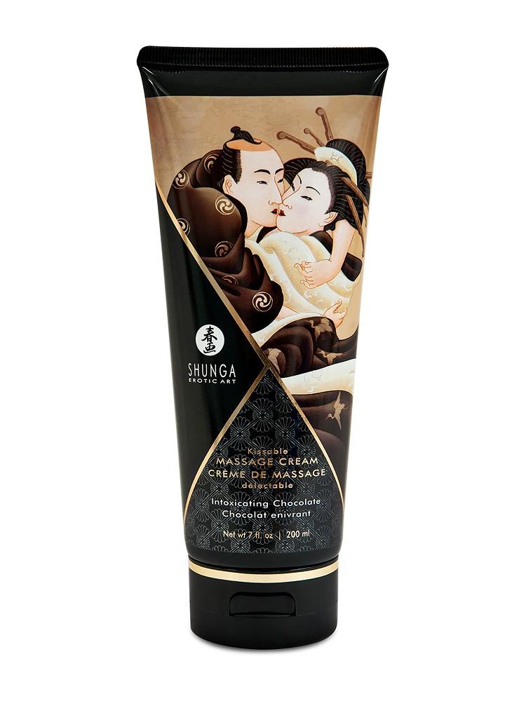 Shunga Kissable Massage Cream Intoxicating Chocolate (200ml)