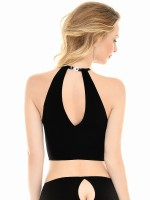 Patrice Catanzaro Juliette: Top, schwarz