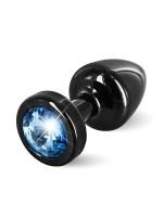 Diogol Buttplug Anni Round: Analplug (25mm), schwarz/blau