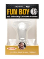 "Perfect Fit Fun Boy 6,5"": Strap-On Packer hohl, transparent"