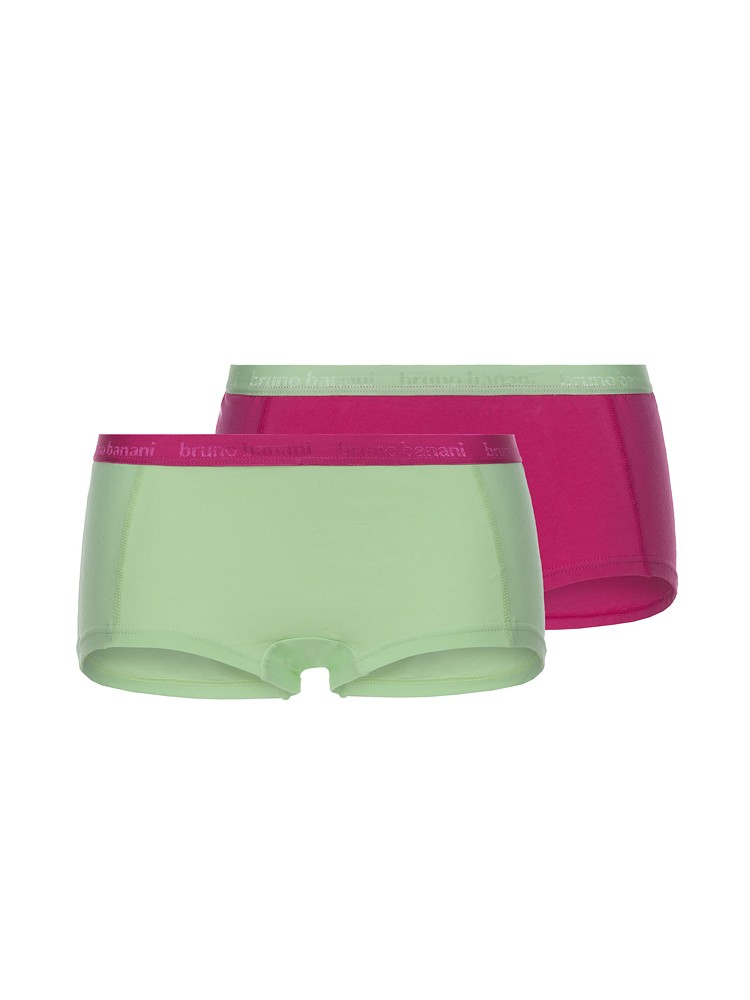 Bruno Banani Flooding: Panty 2er Pack, fuchsia/light green