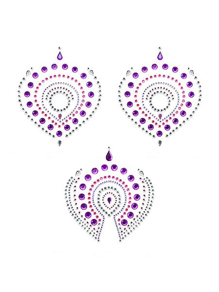 Bijoux Indiscrets Flamboyant: Bodysticker, pink/lila