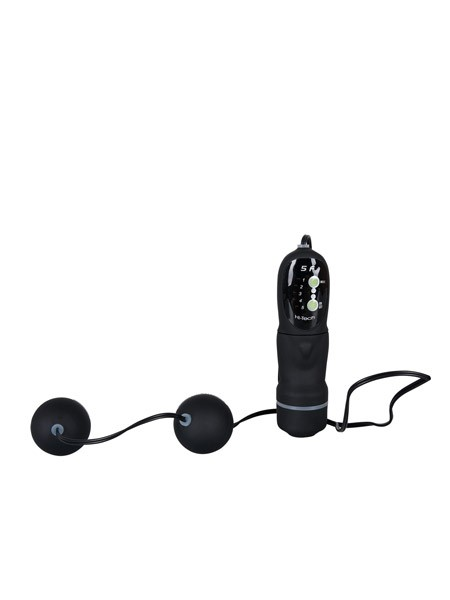 Vibrating Black Velvet Balls: Vibro-Liebeskugeln, schwarz