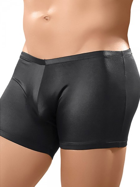 Male Power Nylon Spandex: Pouch Short, schwarz