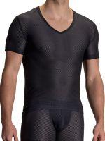 Olaf Benz RED2112: V-Neck-Shirt, schwarz