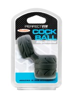 Perfect Fit SilaSkin Cock and Ball: Penisring/Hodenstretcher, schwarz